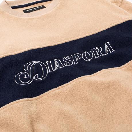 Diaspora skateboards  / Castanea Fleece Crewneck -Beige- / クルーネックスフリース