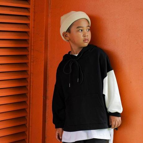 OTOGIBANASHI / かたpanda hoodie(KIDS)-black&white- / パーカー(子供服)