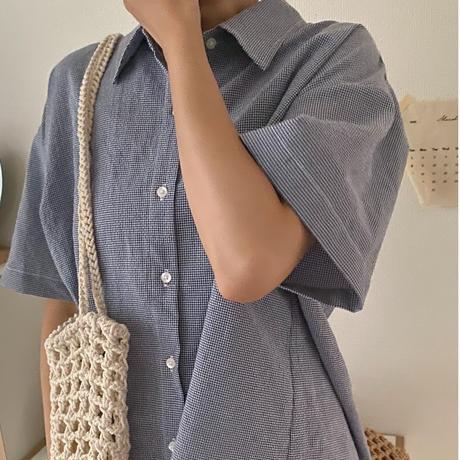 stitch check shirt