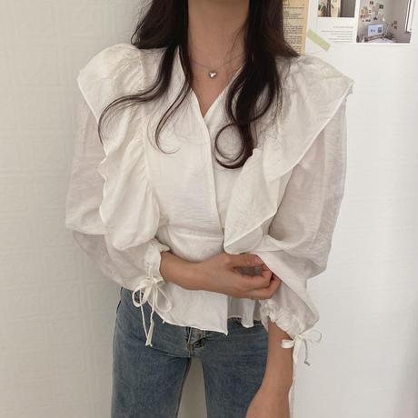 프릴 blouse