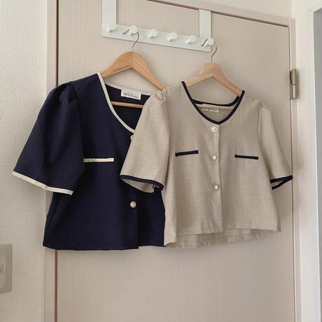 elegant check blouse