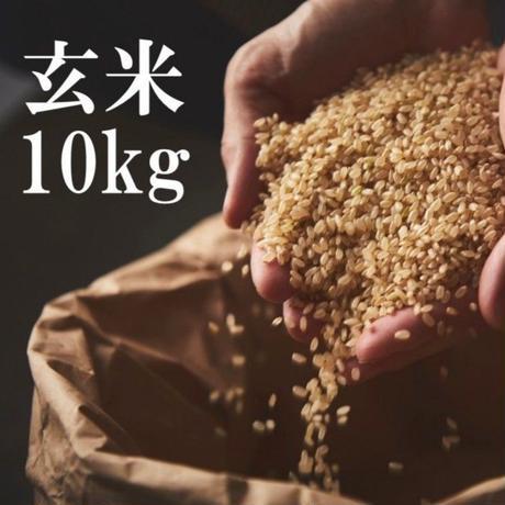 【玄米】稲妻家米10kg (農薬不使用・化学肥料不使用)