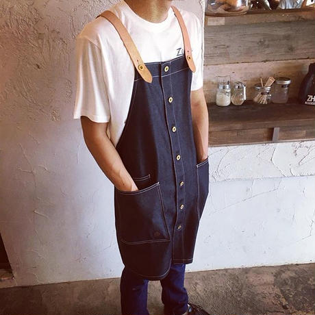 14oz Denim Skule Apron Leather suspender Lsize