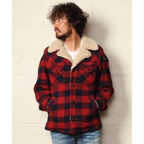COTTON-WOOL BUFFALO CHECK BOA RANCH COAT
