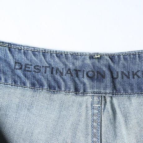 DENIM PAINTER SARROUEL PANTS