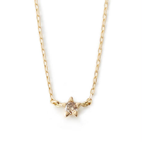 Minimal Star Necklace - BROWN