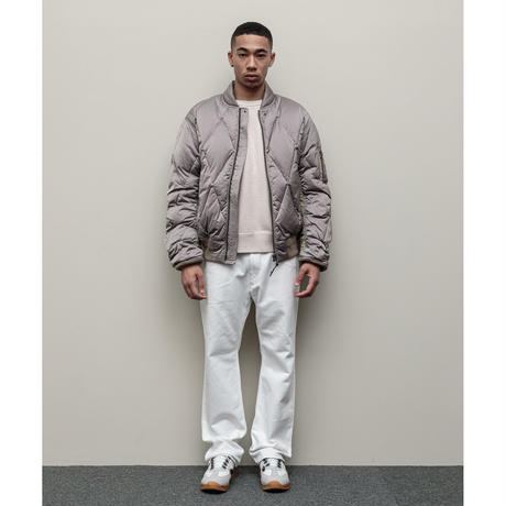 DIAMOND QUILTED DOWN BOMBER JACKET