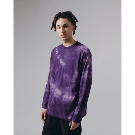 NATURAL DYED BLOCK LS JERSEY - PURPLE ASH DYED