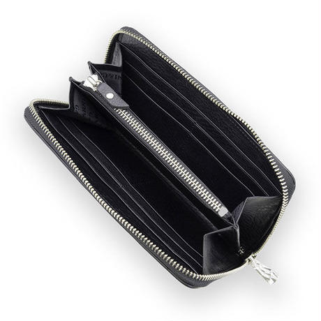 Sign Zip Long Wallet - BLACK