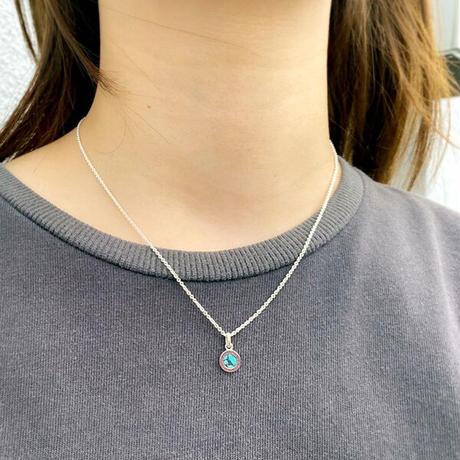 Round Stone Pendant - S - BLUE