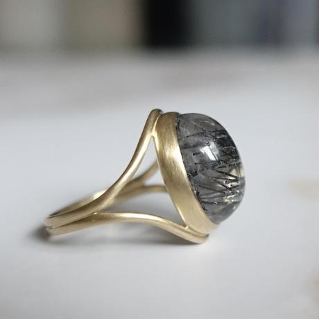 primitive ring (トルマリンクォーツ)13号