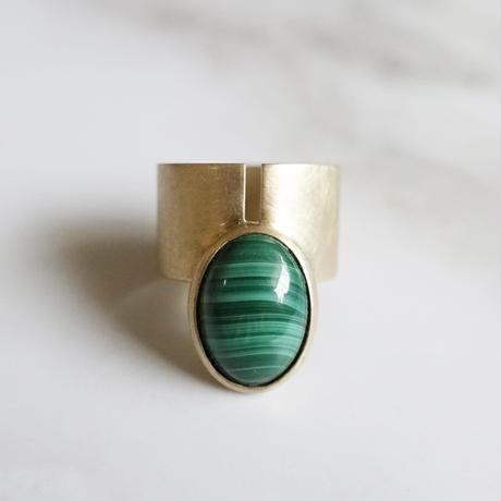 point ring (Malachite) 13号
