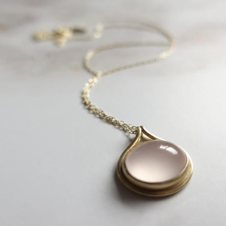 outlines necklace (ローズクォーツ)