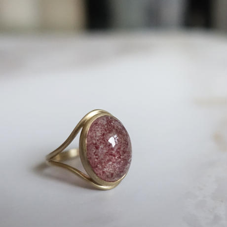 primitive ring(ストロベリークォーツ)13号