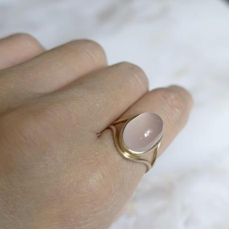 outlines ring (ローズクォーツ)