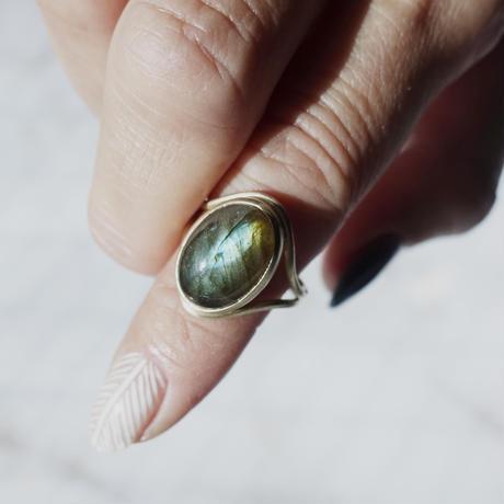 outline ring (ラブラドライト)