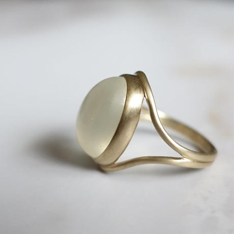 outlines ring (ムーンストーン)