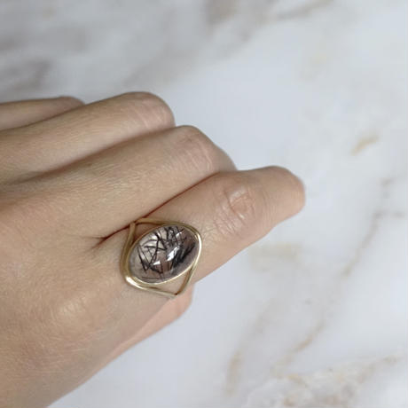 primitive ring(トルマリンクォーツ)11号