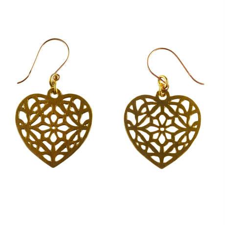 memory pierced earrings  / heart