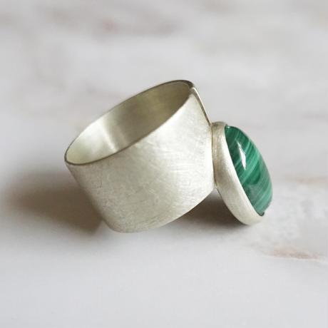 point ring (Malachite)SV925 15号