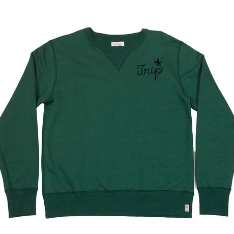 S※TRIPS EMBROIDERY SWEAT -GREEN-