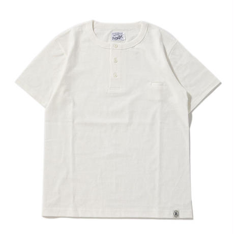 ※LOOP WHEEL HENLEY S/S TEE -WHITE- R185-0202