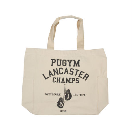 CANVAS GRAPHIC TOTE -PUGYM-