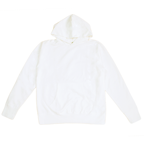※7.5 oz. USA FRENCH TERRY PARKA  -WHITE- R195-0401