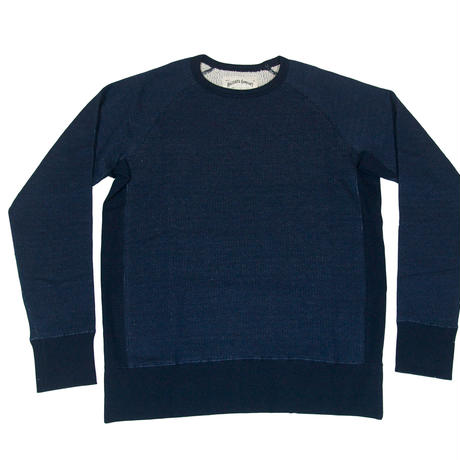 ZIGZAG FLEECE SWEAT -NAVY-