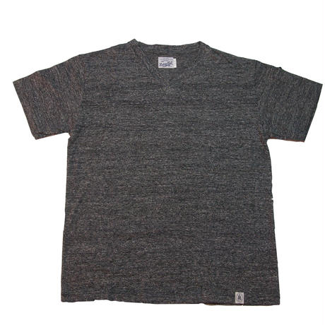 ※LOOPWHEEL V-NECK  T -SHIRTS -MIX CHARCOAL-