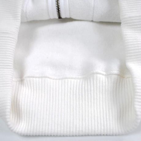 MERINGUE FLEECE ZIP PARKA -OFF WHITE-