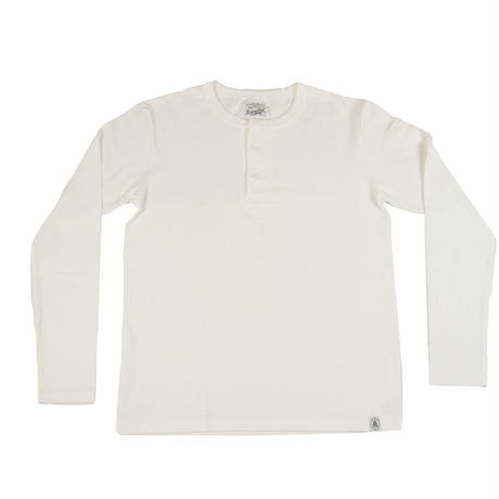 ※LOOPWHEEL HENLEY L/S T-SHIRTS -WHITE- R185-0201