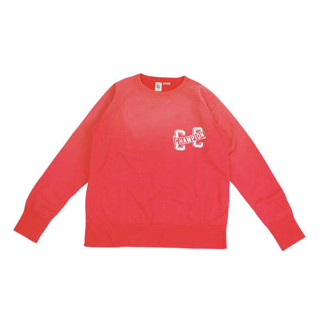 S※SUNBURN PROCESSING RAGLAN CREW -RED- R183-0301