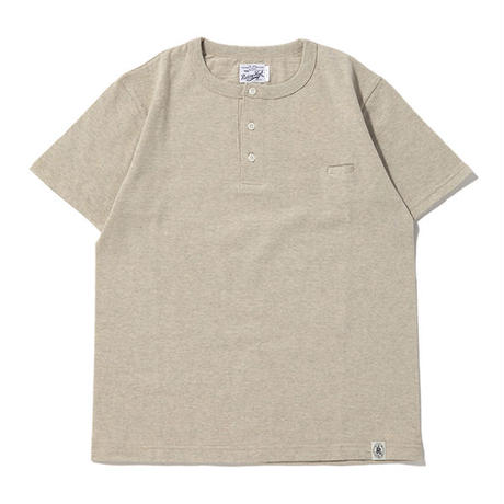 ※LOOP WHEEL HENLEY S/S TEE -OATMEAL- R185-0202