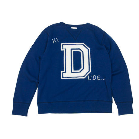 S※DUDE EMBROIDERY SWEAT