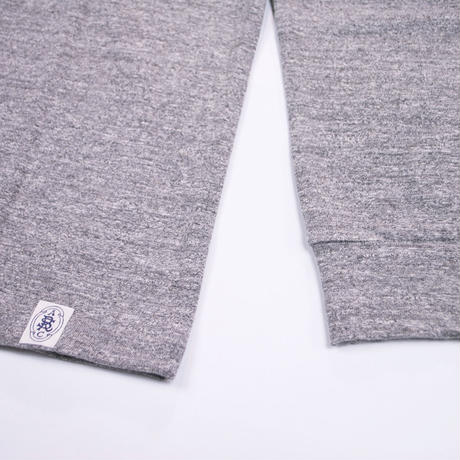 LOOPWHEEL HIGH NECK L/S TEE -MIX GRAY-