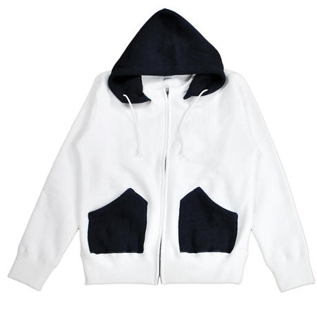 MERINGUE FLEECE ZIP PARKA -OFF WHITE- H183-0401
