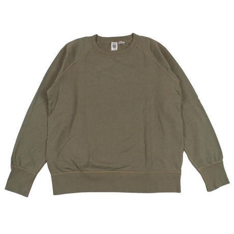※7.5 oz. USA FLEECE RAGLAN SWEAT -OLIVE- R185-0303