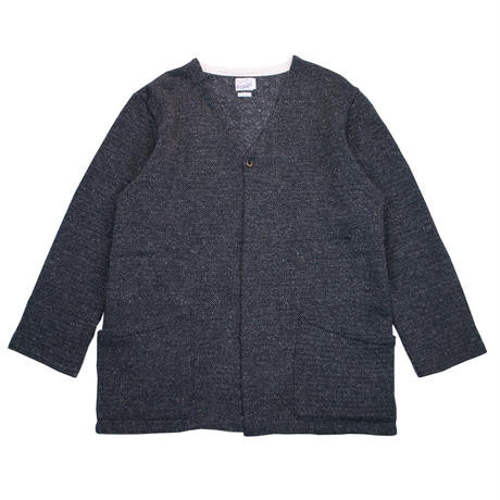 TWEED NEP FLEECE CARDIGAN -CHARCOAL-