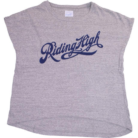(LADY'S)FRENCH SLEEVE TEE -MIX GRAY-