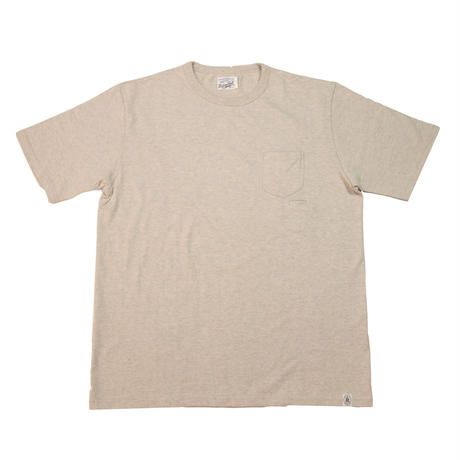 ※LOOPWHEEL POCKET T-SHIRTS -OATMEAL- R185-0101
