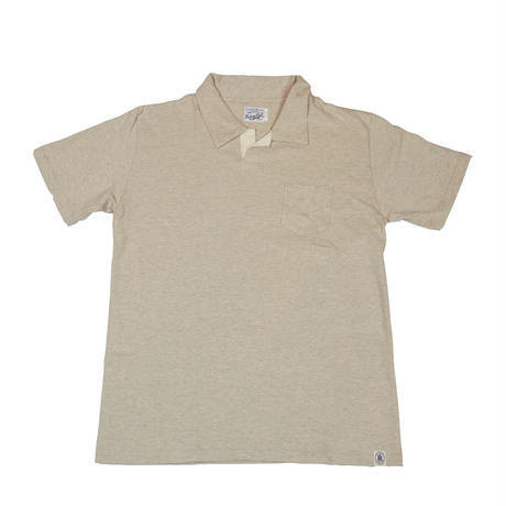 ※LOOPWHEEL T-POLO -OATMEAL-