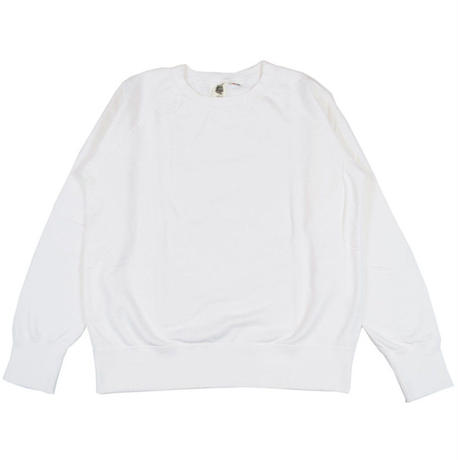 ※7.5 oz. USA FLEECE RAGLAN SWEAT -WHITE- R185-0303