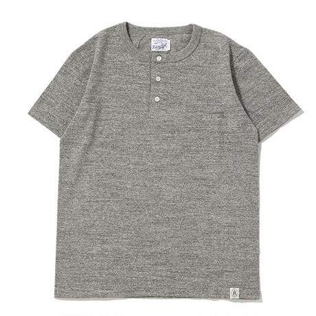 ※LOOP WHEEL HENLEY S/S TEE -MIX GRAY- R185-0202