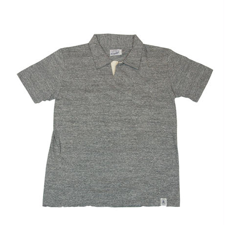 ※LOOPWHEEL T-POLO -MIX GRAY-