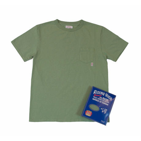 ※STANDARD PACK COLOR POCKET TEE -ARMY GREEN- R185-0103