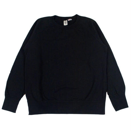 ※7.5 oz. USA FLEECE RAGLAN SWEAT -BLACK- R185-0303