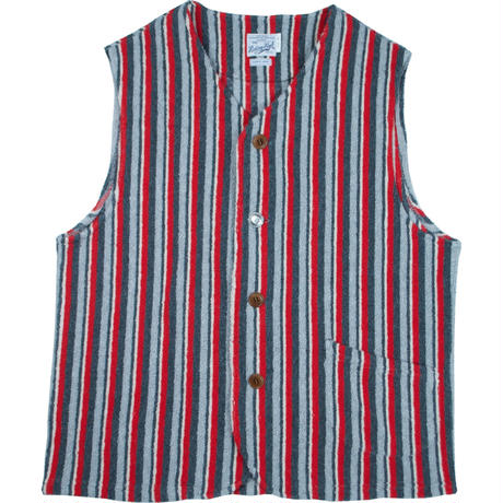 ※NATIVE BLANKET FLEECE VEST -RED- R191-0603