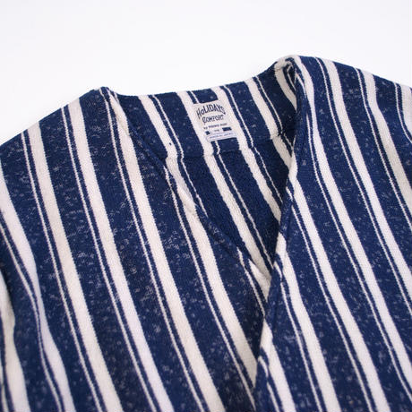※STRIPE BLANKET GOWN -NAVY- H181-0601