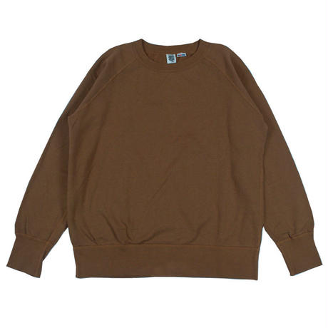 ※7.5 oz. USA FLEECE RAGLAN SWEAT -BROWN- R185-0303